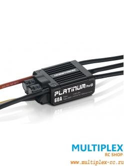 Контроллер электродвигателя  Hobbywing PLATINUM 60A V4